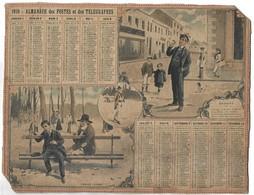CALENDRIER De 1910 - Format 26.5 X 21 Cm - Grand Format : 1901-20