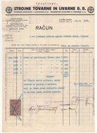 1931 YUGOSLAVIA, SLOVENIA, LJUBLJANA, METAL FACTORIES, INVOICE ON A FACTORY LETTERHEAD, 1 FISKAL STAMP - Invoices & Commercial Documents