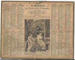 CALENDRIER De 1911 - Format 26.5 X 21 Cm - 2 Feuillets Au Verso De La Gironde - Calendars