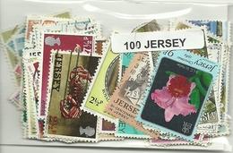 Lot De 100 Timbres De Jersey - Jersey