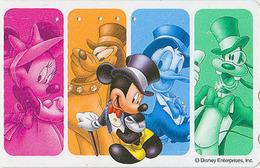 Télécarte Japon / 110-208201 - DISNEY Enterprises - Mickey Minnie Donald / Dai Ichi Life Théâtre - Japan Phonecard Assu - Disney