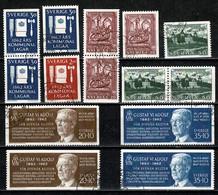 Sverige 1962 Yv. 193/98, 493b, 495b, 496b, 497/98a, Mi 487/88, 495/96, 498/99   (o) Used - Suède