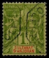 Anjouan (1892) N 13 (o) - Gebruikt