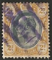 Transvaal 1902. 2s Grey-black And Yellow (wmk CA). SACC 263, SG 257. - Südafrika (...-1961)
