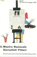 Napoli 1958, 2^ Mostra Nazionale Giornalisti Pittori, Riproduzione C15, Reproduction, Illustrazione, Ruffolo Illustrat. - Esposizioni