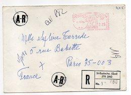Canada-1981--Lettre Recommandée A.R De Saint Eustache  Pour PARIS (France)--machine à Affranchir - 1952-.... Règne D'Elizabeth II