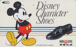 Télécarte Japon / 110-011 - DISNEY SHOES - Mickey Mouse Chaussure - Japan Phonecard Telefonkarte - Disney