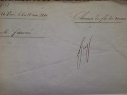 Rarissime! Contrat Manuscrit Chemin De Fer De Paris à Rouen 1841 Nanterre Colombes Autographe Train PLM Gare - Stations - Met Treinen