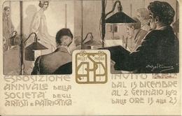 Esposizione Ann.le Società Artisti E Patriottica 1902, Riproduzione C17, Reproduction, Illustrazione A. Beltrame Illustr - Esposizioni