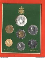 Vaticano Serie 1989 Papa Wojtyla Giovanni Paolo II° Anno XI° Vatikan State Divisionale Con 1000 Lire Argento - Vaticano