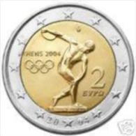 Griekenland 2004    2 Euro Commemo  Olympische Zomerspelen   UNC Uit De Rol  UNC Du Rouleaux  !! - Grèce