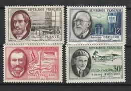 FRANCE 1957 YT N° 1095 à 1098 ** - Unused Stamps
