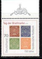 GERMANY, 2018, MNH, STAMP ON STAMP, STAMP DAY, 1v - Stamps On Stamps
