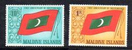 APR1519 - MALDIVE 1966 , Serie  Yvert N. 187/188  ***  MNH  (2380A) . - Maldive (1965-...)
