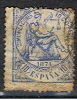 (E 654) ESPAÑA // YVERT 143 // EDIFIL 145 // 1874 - 1873-74 Regentschaft
