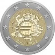 Griekenland 2012    2 Euro Commemo   10 Jaar Euro UNC Uit De Rol  UNC Du Rouleaux  !! - Grèce