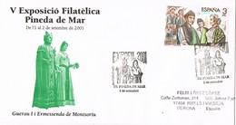 33624. Carta Exposicion PINEDA De MAR (Barcelona) 2001. EXPOFIL Gegants De Pineda - 1931-Hoy: 2ª República - ... Juan Carlos I
