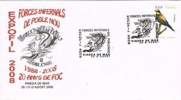 33625. Carta Exposicion PINEDA De MAR (Barcelona) 2008. EXPOFIL Forçes Infernals, Diablos Poble Nou - 1931-Hoy: 2ª República - ... Juan Carlos I
