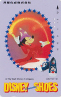TC Japon / 110-011 - DISNEY CHARACTER SHOES - Mickey Mouse ** FANTASIA ** - Chaussure Bébé - Japan Phonecard - Disney