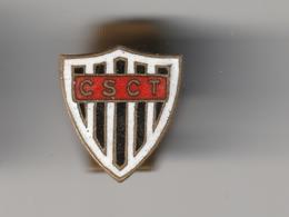 Très RARE !! Epinglette De Revers De Veste -- Pin's - C.S.C.T Football Années 50 - Club Sportif Des Cheminots Thouarsais - Football