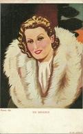Isa Miranda, Attrice, Actress, Actrice, Riproduzione C25, Reproduction, Illustrazione Nanni Illustratore - Artisti