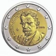 Griekenland  2018    2 Euro Commemo  KOSTIS PALAMAS    LEVERBAAR !!!!      UNC Uit De Rol  UNC Du Rouleaux !! - Grèce