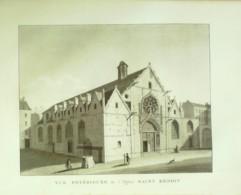 PARIS 5-SAINT BENOIT Eglise (vue Extérieure)-1870-VP96 - Stampe & Incisioni