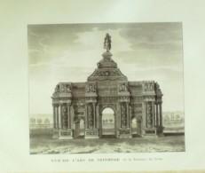 PARIS 8-L'ARC De TRIOMPHE De La BARRIERE Du TRONE (vue Extérieure)-1870-VP36 - Estampes & Gravures