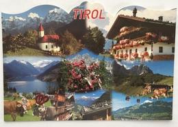 (737) Grüsse Aus Tirol - Kabelbaan - Koeien - Bloemen - Souvenir De...