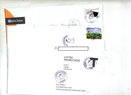 Lot 10 Lettre  Cachet  Poste Chiffree à Voir - Postmark Collection (Covers)