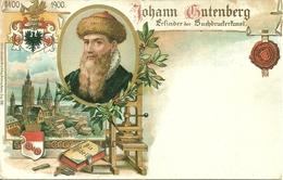 Johann Gutenberg 1400 - 1900, Riproduzione C27, Reproduction, Illustrazione - Personaggi Storici