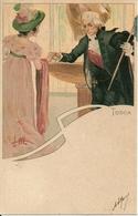 Tosca, Opera Lirica, Riproduzione C28, Reproduction, Illustrazione L.M. Illustratore - Celebrità