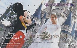 Télécarte Japon / 110-011 - DISNEY DISNEYLAND  FEMME Mariée * SURCHARGE OVERPRINT * - WOMAN Wedding Japan Phonecard Rel. - Disney