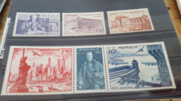 LOT 466506 TIMBRE DE MONACO NEUF** LUXE N°22 A 27 - Airmail