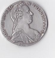 Voici Une  Monnaie D'Argent De Grande Taille 1 Thaler  Marie-Thérèse 1780.x  Portrait De Marie-Thérèse De Habsbourg... - Autriche
