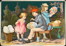 Chromo & Image Gauffrée > Décoration Des Oeufs ( Grand Format) - BE - Vieux Papiers