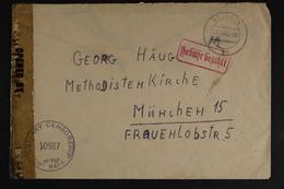 Kronach, Roter Gebühr Bezahlt, 17.10.45, Zensur - Deutschland