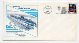 USA, 12.09.1987. EVENT COVER  TO COMMEMORATE LAUNCHING OF USS PASADENA SUBMARINE, GROTON POST MARK - Schmuck-FDC