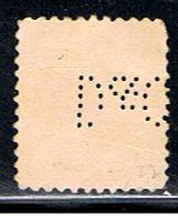 US 1700 // YVERT 172 (PERFORÉ:PERFIN: ) // 1908-09 - Perforados