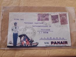 Lettre Du Brésil Envoyée En Allemagne Par PANAIR - Luftpost (private Gesellschaften)