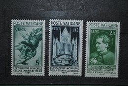 Vatican 1936 MH Charnières Fortes - Vatican
