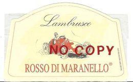 Rosso Di Maranello, Lambrusco, Etichetta Di Bottiglia Di Vino Cm. 13 X 8. - Automobili D'Epoca