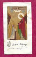 IMAGE PIEUSE...Communion De Geneviève MAUPAS, Eglise De LA LANDE PATRY (61), En 1949... 2 Scans - Santini