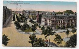 (RECTO / VERSO) METZ EN 1914 - BOULEVARD EMPEREUR GUILLAUME - BEAU CACHET ET TIMBRE ALLEMAND - PLIS VERTICAUX - CPA - Metz