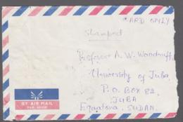MYANMAR -  1991 - NORTH OKKALAPA BILINGUAL CDS ON COVER SUDAN, SCARCE DESTINATION - Myanmar (Burma 1948-...)