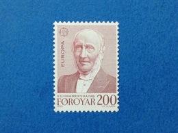 1980 FAROER FOROYAR EUROPA HAMMERSHAIMB 200 FRANCOBOLLO NUOVO STAMP NEW MNH** - Isole Faroer