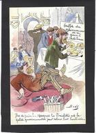 CPA Bobb Satirique Caricature Non Circulé Dessin Original Fait Main Socialistes - Satirical
