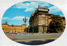 CARTOLINA  OVALE   TORINO  PIAZZA  CASTELLO  E  PALAZZO  REALE   (NUOVA) - Palazzo Reale
