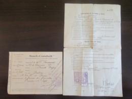 WW1 Berck Sur Mer Et Arras - 2 Sauf-Conduit Pour Voyager Dont Un Visé Par L'Autorité Militaire Britannique - 1915 / 1916 - Documents