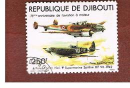 GIBUTI (DJIBUTI) -  SG 762  -    1979 AIRPLANES: CONCORDE & SIKORSKY S 40   - USED ° - Gibuti (1977-...)